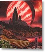 Cabernet Wine Country Fantasy Metal Print