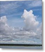 Cabin At Bacalar Lagoon Metal Print