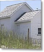 Cabin At Cape Lookout 2 Metal Print by Cathy Lindsey