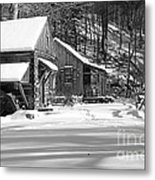 Cabin Fever In Black And White Metal Print