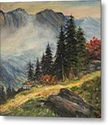 Cabin In The Alps Metal Print