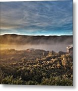 Cabin In The Fog Metal Print