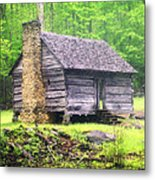 Cabin In The Smokies Metal Print