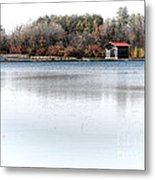 Cabin On A Lake Metal Print