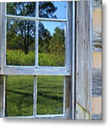 Cabin Reflections Metal Print