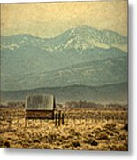 Cabin With Mountain Views Metal Print