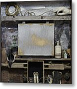 Cabinet Of Old Psychoanalyst Metal Print