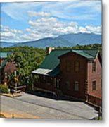 Cabins In The Smokies Metal Print