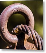 Cable And Eyebolt Metal Print