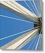 Cable Bridge Abstract Metal Print