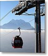 Cable Car Above The Andes Metal Print