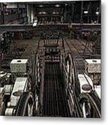 Cable Car Barn In San Francisco Metal Print