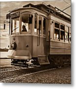 Cable Car In Porto Portugal Metal Print