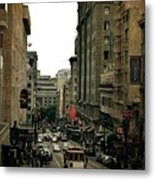 Cable Car In The City Metal Print