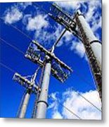 Cable Car Pillars Metal Print