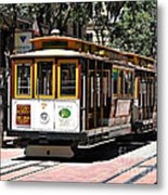 Cable Car - San Francisco Metal Print