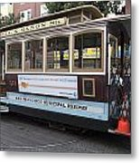 Cable Car Turn-around At Fisherman's Wharf Metal Print