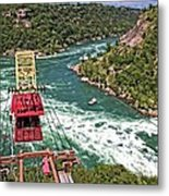 Cable Car Whitewater Metal Print