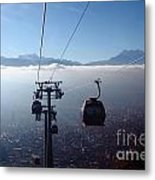 Cable Cars Over La Paz City Metal Print