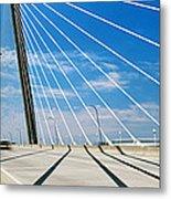 Cable-stayed Bridge, Arthur Ravenel Jr Metal Print