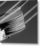 Cables And Pulleys Metal Print