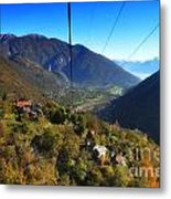 Cableway Over The Mountain Metal Print