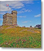 Cabot Tower In Signal Hill National Historic Site In Saint John's-nl Metal Print