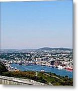 Cabot Tower Overlooking The Port City Of St. John's Metal Print