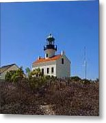 Cabrillo Lighthouse Metal Print by Judy  Waller