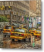 Cabs In The Canyons Metal Print