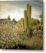 Monterey California Cactus Garden Metal Print