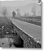Cades Cove Black And White Metal Print by Frozen in Time Fine Art Photography