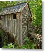 Cades Cove Grist Mill Closeup Metal Print