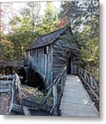 Cade's Cove Mill In The Fall Metal Print
