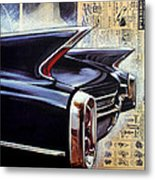 Cadillac Attack Metal Print
