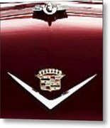 Cadillac Emblem And Hood Ornament Metal Print