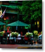 Cafe Alfresco Metal Print