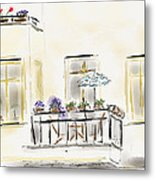 Cafe At Gorky Park Berlin Metal Print