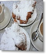 Cafe Au Lait And Beignets Metal Print by Carol Groenen