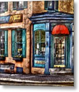 Cafe - Cafe America Metal Print by Mike Savad