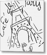 Cafe De Paris Metal Print