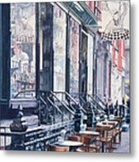 Cafe Della Pace East 7th Street New York City Metal Print by Anthony Butera