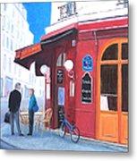 Cafe Des Musees Paris Metal Print