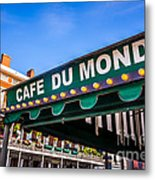 Cafe Du Monde Picture In New Orleans Louisiana Metal Print
