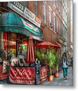 Cafe - Hoboken Nj - Vito's Italian Deli  Metal Print by Mike Savad