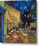 Cafe In France Metal Print by Anais DelaVega