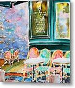 Cafe In Montmartre Metal Print
