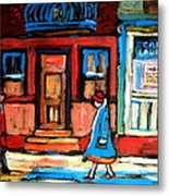 Cafe Laurier Montreal Metal Print