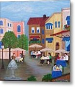 Cafe' Moments Metal Print