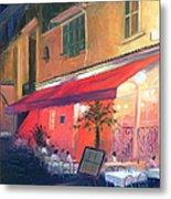 Cafe Scene Cannes France Metal Print